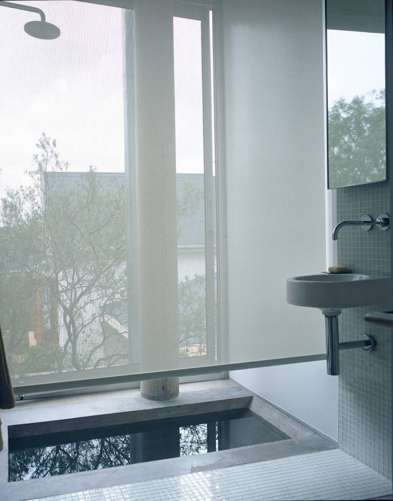 architectural design showing bathroom with shower and sink